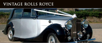 vintage rolls royce for wedding car hire